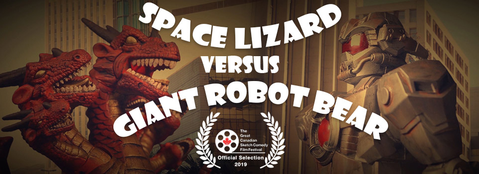 Space Lizard Versus Giant Robot Bear